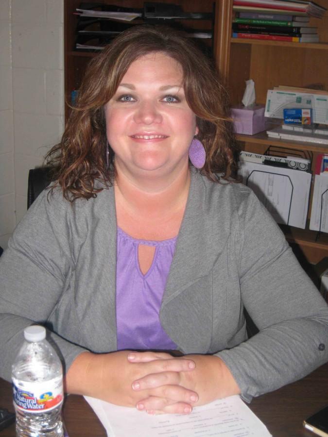 October's Teacher of the Month, Kim Thompson.