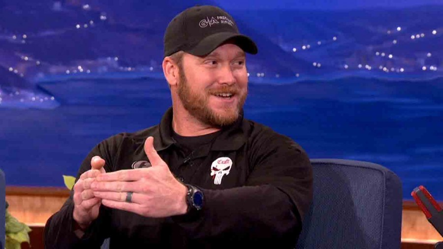 Navy SEAL, Chris Kyle appears on a national talk show.