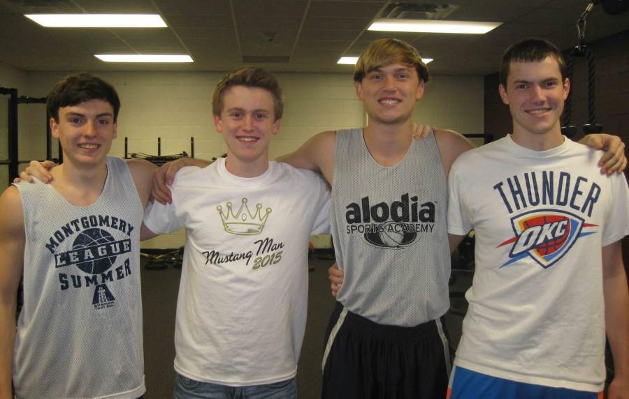 From Left to Right: Seniors Nathan Seward; Drew Burnett; Austin Cote; and Daniel Lynch.  Missing from photo is Peter Ellwanger.
