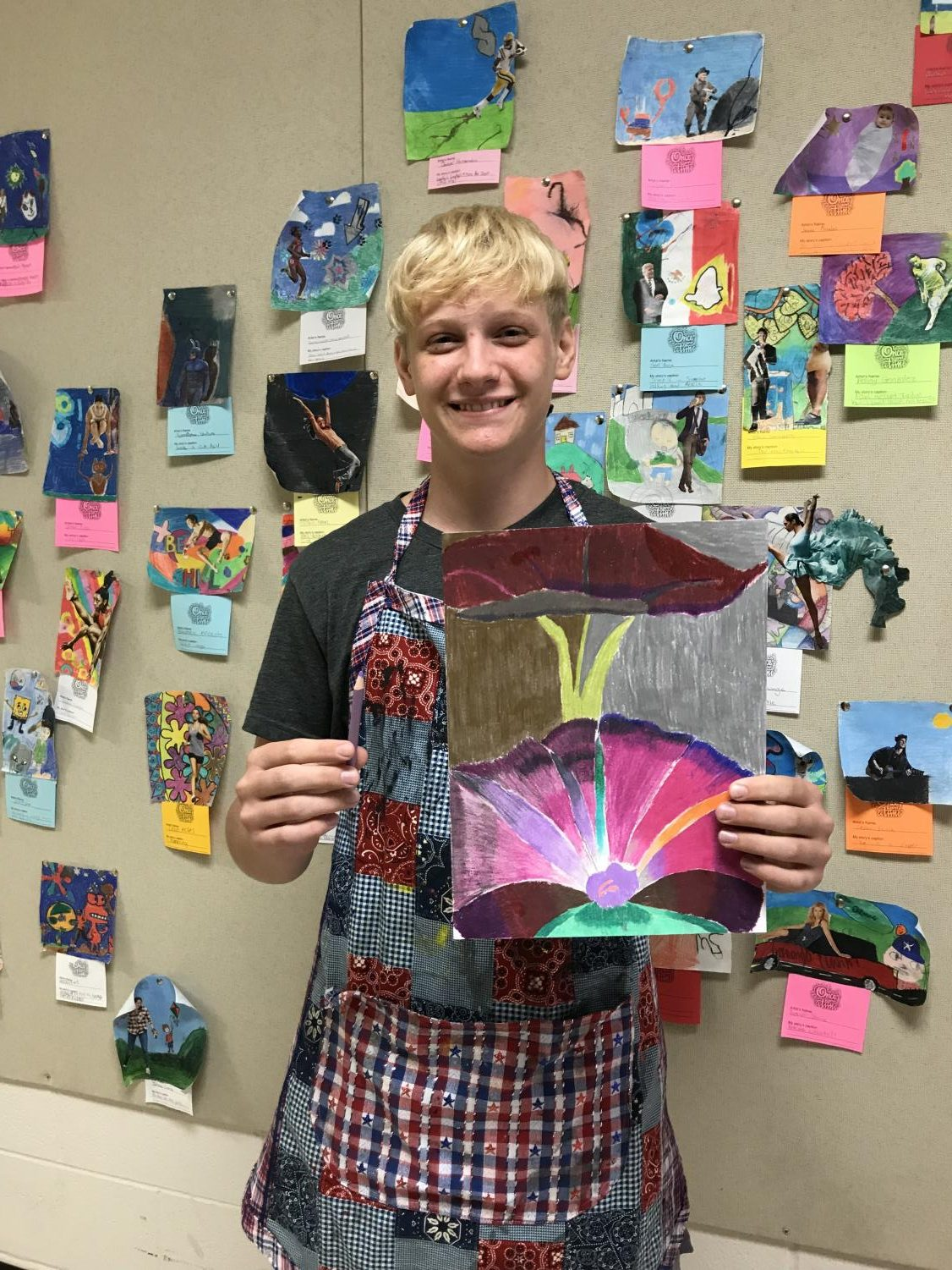 With art as one of his electives, sophomore Evan Fortson attributes lessons from sports help his creativity in Mrs. Huntsman Art I class.